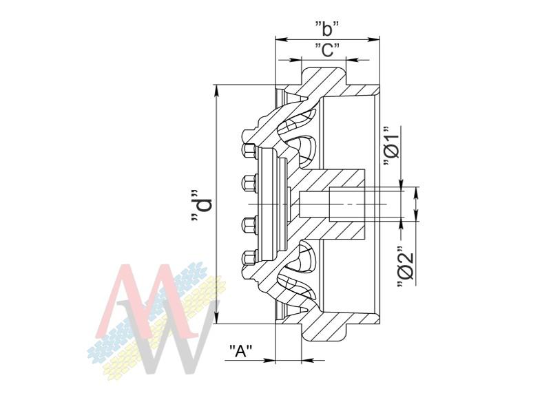 Rims 11,75х22,5 20 small hole front/trailer