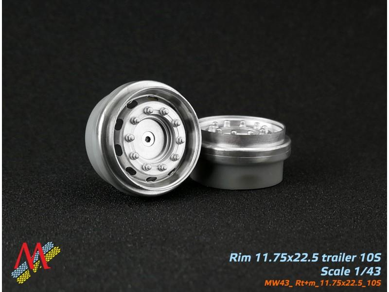 Rims  11,75х22,5 trailer 10 small hole