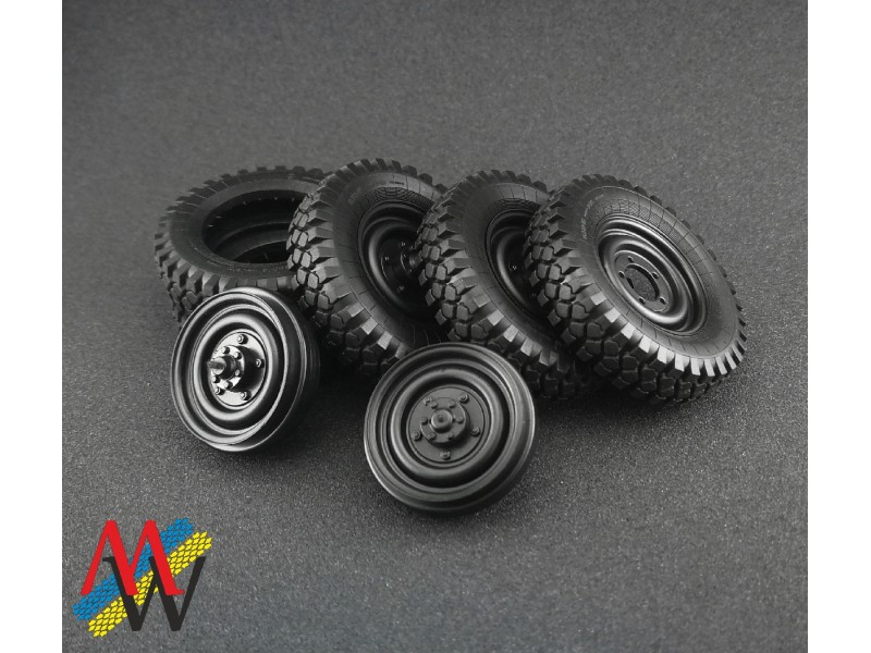 Set for GAZ-69 tyres and rims