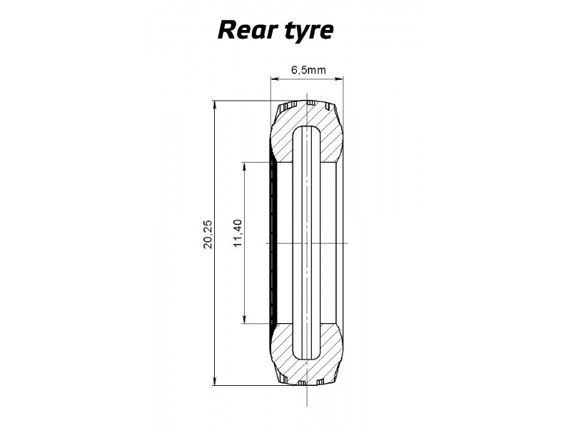 1:50 Tyre set 6x4  low profile