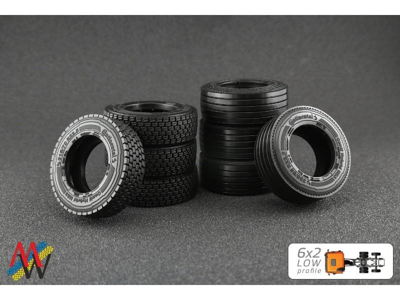 1:50 Tyre set 6x2 low profile