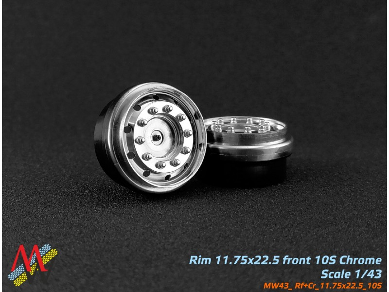 Rims 11,75х22,5 truck Chrome 10 small hole