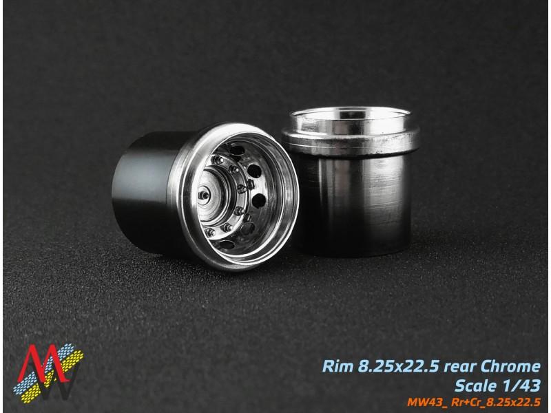 Rims 8,25х22,5 Crome rear