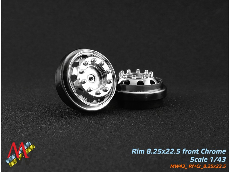 Rims 8,25х22,5 Chrome front