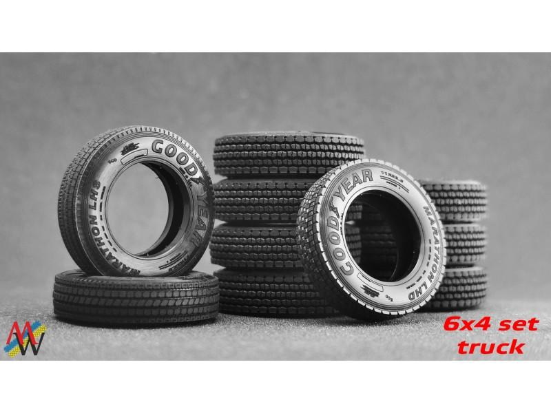 1:50 Tyre set 6x4 11R22.5